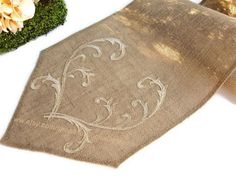 Items similar to Romantic Gold Wedding Table Runner Burlap Table Runner embroidered Rustic Table Decor , Unique Wedding Linens , Handmade in the USA on Etsy Wedding Table, Rustic Wedding, Gold Wedding, Colored Burlap, Country Wedding Decorations, Burlap Table Runners, Wedding Linens, Machine Embroidery Applique, Handmade