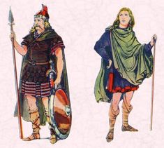 An Anglo-Saxon Warrior and an Anglo-Saxon Man http://www.fashion-era.com/ancient_costume/clothing-saxon-frankish-anglo.htm