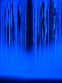 Available for sale from Sundaram Tagore Gallery, Hiroshi Senju, Waterfall: Night (2014), Acrylic and fluorescent pigments on Japanese mulberry paper, 102 × 72 5/16 in  This is of value because...