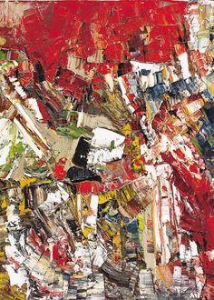 Bild Collage rot gold Original Unikat Acryl 535 x 76 cm Abstrakte Kunst Tachisme, Canadian Art, Artist Gallery, Abstract Canvas, Painting Inspiration, Illustration Art, Ebay, Canada, Artworks