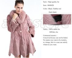 Luxury Rabbit Fur Overcoat With The Latest Style, Fox Fur Collar, Slim Designed Version Type, Now On Hot Sale At Low Price