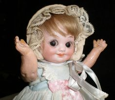 German Bisque Googly Doll