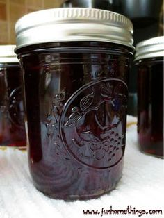 Homemade Grape Jelly from grape juice.