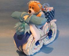 ♦Süßes+Windelmotorrad+mit+Topcase+in+blau♦+de+Geschenketorten-Gebhardt+por+DaWanda.com