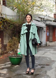 loved the colored trench ♥