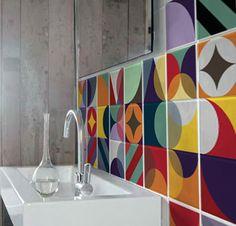 Adesivo para Azulejo - Azulejos Loop. http://www.istickonline.com/adesivos-de-parede/ludicos/adesivo-para-azulejo-loop