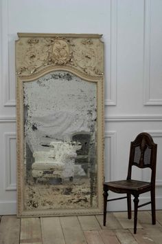 How to antique a mirror.  I really like this tutorial . . I think its probably the most informative