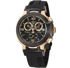 Tissot Men's T048.417.27.057.06 T-Sport Rose-Gold PVD Black Rubber Strap Watch Tissot. $530.00. •Swiss quartz movement•Antireflexive saphire crystal•Case diameter: 43 mm•Stainless steel case•Water resistant to 330 feet. Save 29% Off!