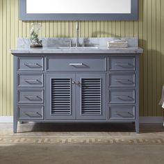 Griffith 55 Single Bathroom Vanity with Mirror with Price : $ 1319.99