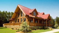 log home with wrap around porch