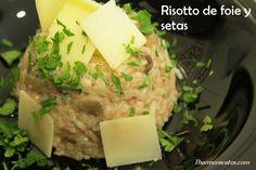 Risotto setas y foie. Toda una delicia para el paladar. #risotto #recetas #thermomix