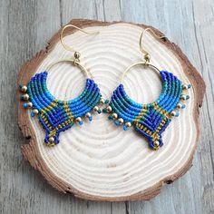 Seed Bead Earrings, Polymer Clay Earrings, Dangle Earrings, Beaded Necklace, Norwegian Knitting Designs, Macrame Earrings Tutorial, Stacked Necklaces, Micro Macramé, Macrame Jewelry