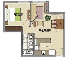Plano de casa de 25 metros cuadrados | Planos de casas modernas