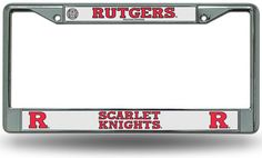 Chrome License Plate Frame - Rutgers Scarlet Knights