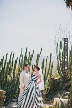 Cool - LOVE a bride in stripes!   Rad + In Love   CHECK OUT MORE GREAT BLACK AND WHITE WEDDING IDEAS AT WEDDINGPINS.NET   #weddings #wedding #blackandwhitewedding #blackandwhiteweddingphotos #events #forweddings #iloveweddings #blackandwhite #romance #vintage #blackwedding #planners #whitewedding #ceremonyphotos #weddingphotos #weddingpictures