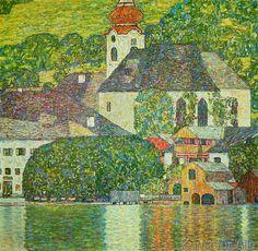 Gustav Klimt - Kirche in Unterach am Attersee