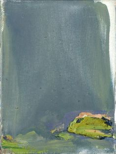 Olivier Debré: Mont Sore Yu, Seoul, 1983,  Huile sur toile, 22 x 16 cm, Galerie Sonia Zannettacci.