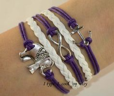 elephant braceletInfinity bracelet anchor bracelet by itypeicool, $3.99