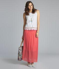 Cotton Maxi Skirt