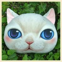 0018 Cute cat pillow - Decoration Cute Cat Face Pillow