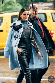 New York SS 2019 Street Style: Olivia Palermo - Fashion Street Style 2018, Street Chic, Vintage Coat, Mode Vintage, Fashion Week, Fashion Outfits, Fashion Trends, Style Fashion, Winter Fashion