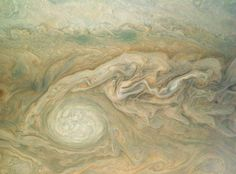 Early science results from NASA's Juno mission to Jupiter portray the largest planet in our solar system as a complex, gigantic, turbulent world, with Earth-sized polar cyclones, plunging storm systems that travel deep into the heart of the gas giant. Space Photos, Space Images, Constellations, Juno Jupiter, Jupiter Planet, Nasa Juno, Juno Spacecraft, Space Probe, Gas Giant
