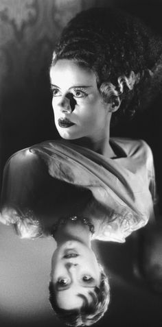 """""""I have love in me the likes of which you can scarcely imagine and rage the likes of which you would not believe. If I cannot satisfy the one, I will indulge the other."""" ~ Mary Shelley, Frankenstein // Elsa Lanchester as The Bride/Mary Shelley in """"The Bride of Frankenstein"""" (1935)"""
