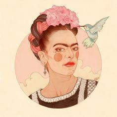 'Frida' full colour signed A3 size digital print on 300GSM matt card. Please…