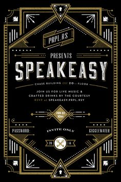 Secret Speakeasy Invitation on Behance
