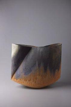 Ken Mihara.  Kodô (Pulse), 2011 Multi-fired unglazed stoneware 14 3/4 x 17 3/8 x 9 inches Inv# 7061 SOLD