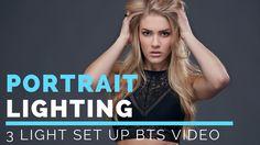 Portrait Photography Lighting Setup | 3 Light Portrait Lighting setup