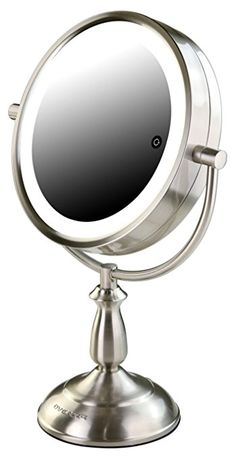 Ovente SmartTouch Cool, Warm, Daylight LED Lighted Mirror, Tabletop Vanity Mirror, 1x/7x Magnification, Battery… Review
