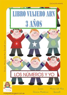 LIBRO VIAJERO 3 AÑOS. MATERIAL ABN PARA IMPRIMIR Happy Kids, Craft Activities, Teacher, Education, Books, Fictional Characters, Maths, Homeschooling, Narrativa Digital