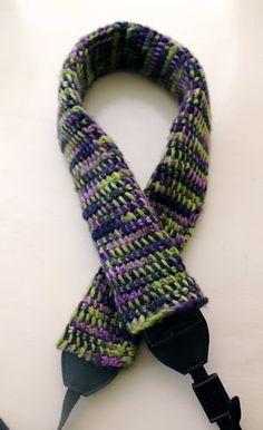 Tots and Bottoms: Tunisian Crochet Camera Strap