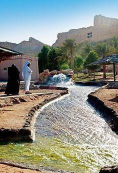 Green Mubazzarah, Al Ain . Hot spring water, so very hot, but it felt good soaking your feet. #dubai #uae