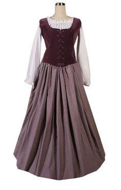 Ladies Medieval Tudor Serving Wench Costume Image