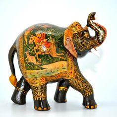 Painted Miniature Painting Elephant