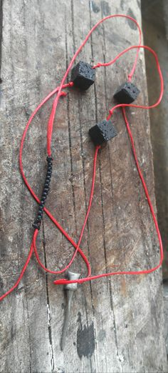 long minimal necklace/lava beads/K.ompo.S- Handmade Jewel