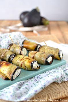 Roulés d'aubergine au chèvre frais Entrees, Buffet, Brunch, Dairy, Vegan, Green Lifestyle, Cooking, Blog, Birthday