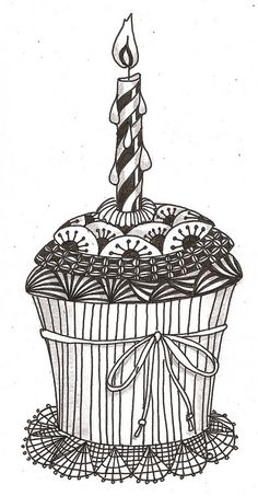 Zentangle Cupcake :-) | Food Art Ideas | Pinterest ...