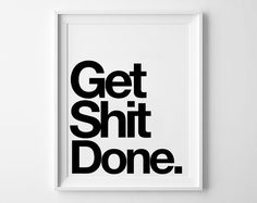 Done Inspirational poster, typography art, wall decor, mottos, graphic design…
