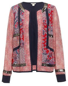 LE CATCH: mixed floral print jacket