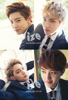 Exo's Chanyeol, Kai, D.O and Kris [I miss our galaxyboy sooooo much:((]