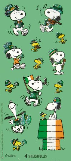 Snoopy St. Patrick's Day Glitter (I have several sheets of these left over from 2 years ago) :)