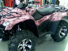 I need a pink camo four-wheeler...