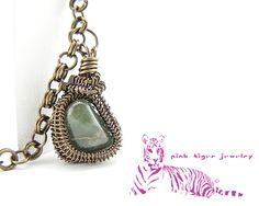Green Jasper Pendant with 2-in-1 Chainmaille