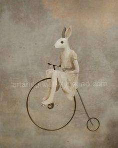 Penny Farthing rabbit.