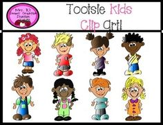 The Tootsie Kids are the cutest kids on the block! Tootsie Kids Clip Art is perfect to add some cuteness or spunk to your products. The Tootsie Kid Clip Art pack comes with a variety of diverse children. Tootsie Kids Clip Art can be used for personal or commercial use.