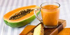Papaya Pineapple Juice Recipe - taste of the tropics! Papaya Smoothie, Juice Smoothie, Smoothie Recipes, Smoothies, Papaya Juice Recipe, Ginger Smoothie, Healthy Drinks, Healthy Eating, Healthy Recipes