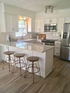 Kitchen Room Design, Modern Kitchen Design, Home Decor Kitchen, Interior Design Kitchen, Home Kitchens, Apartment Kitchen, Farmhouse Kitchens, Minimal Kitchen, Rustic Kitchen